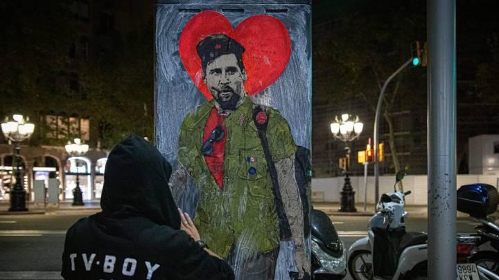 Arrancan el graffiti de Messi emulando al 'Che'