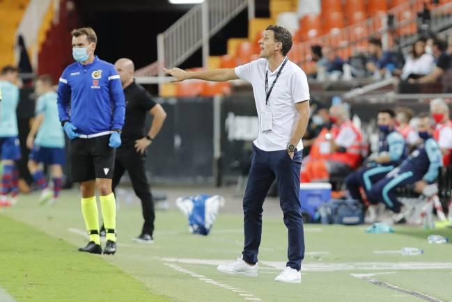 Javi Gracia, en el partido ante el Levante.