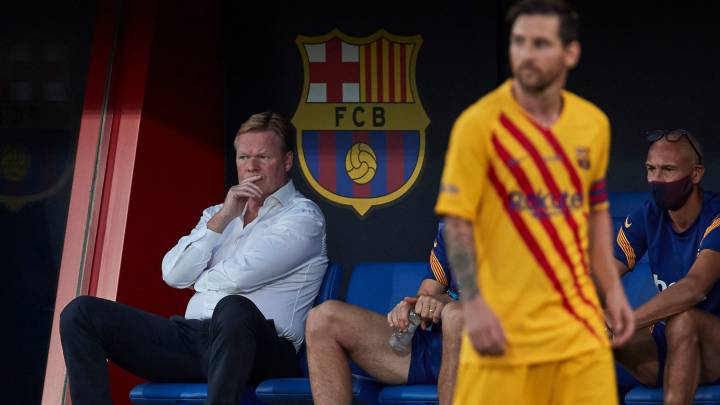 """Koeman, conciliador: """"Messi hace todo lo que espero de él"""""""