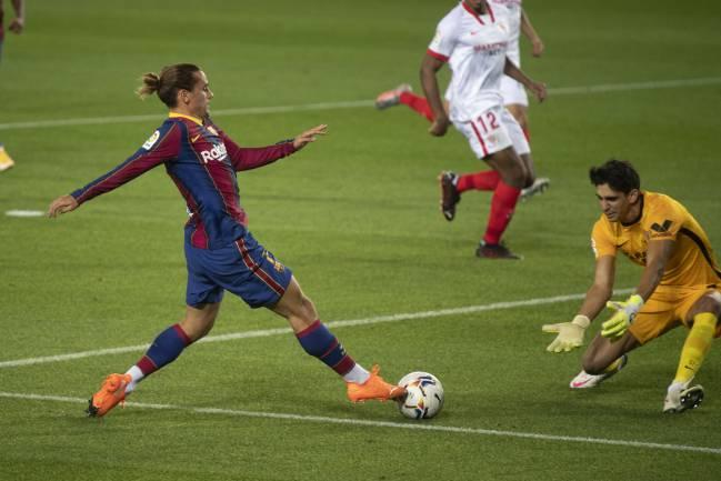 Griezmann, en el partido ante el Sevilla.