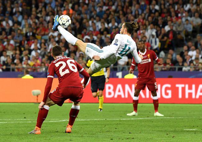 La chilena de Gareth Bale en la final de la Decimotercera contra el Liverpool en Kiev 2018.