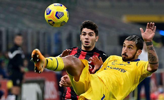 Brahim, con el Milán.