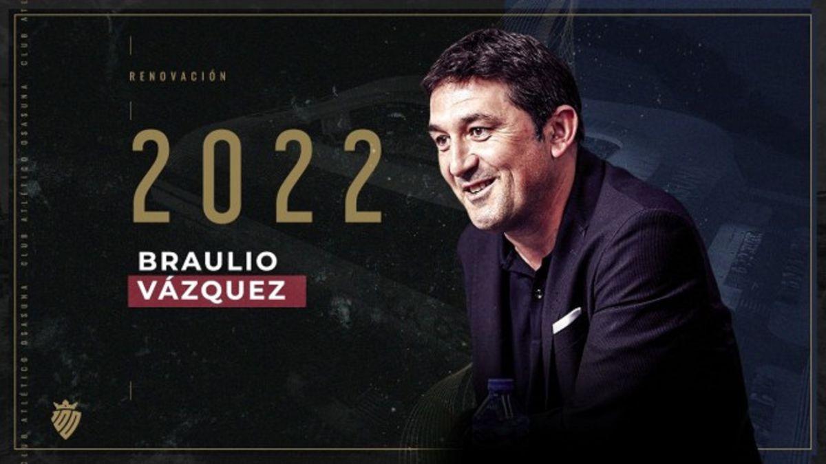 Osasuna |  Braulio renueva como director deportivo de Osasuna hasta 2022