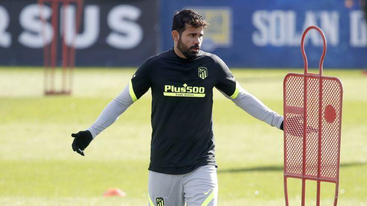 Diego Costa en un entrenamiento.