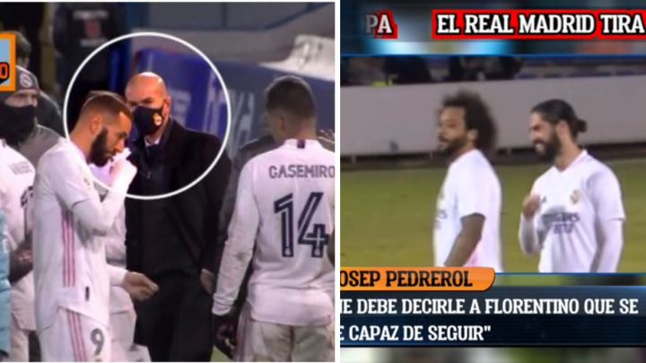 Real Madrid fans riled as Isco and Marcelo are caught giggling during Alcoyano defeat