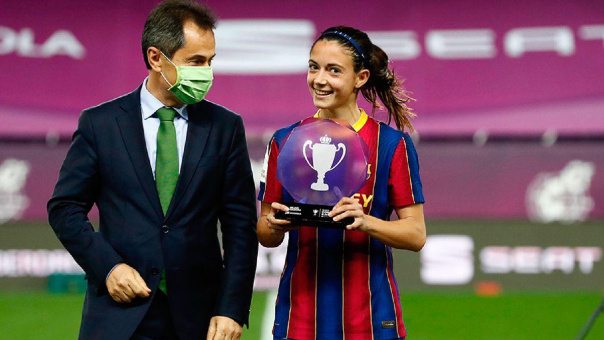 Aitana Bonmatí, MVP of the Cup final against Logroño