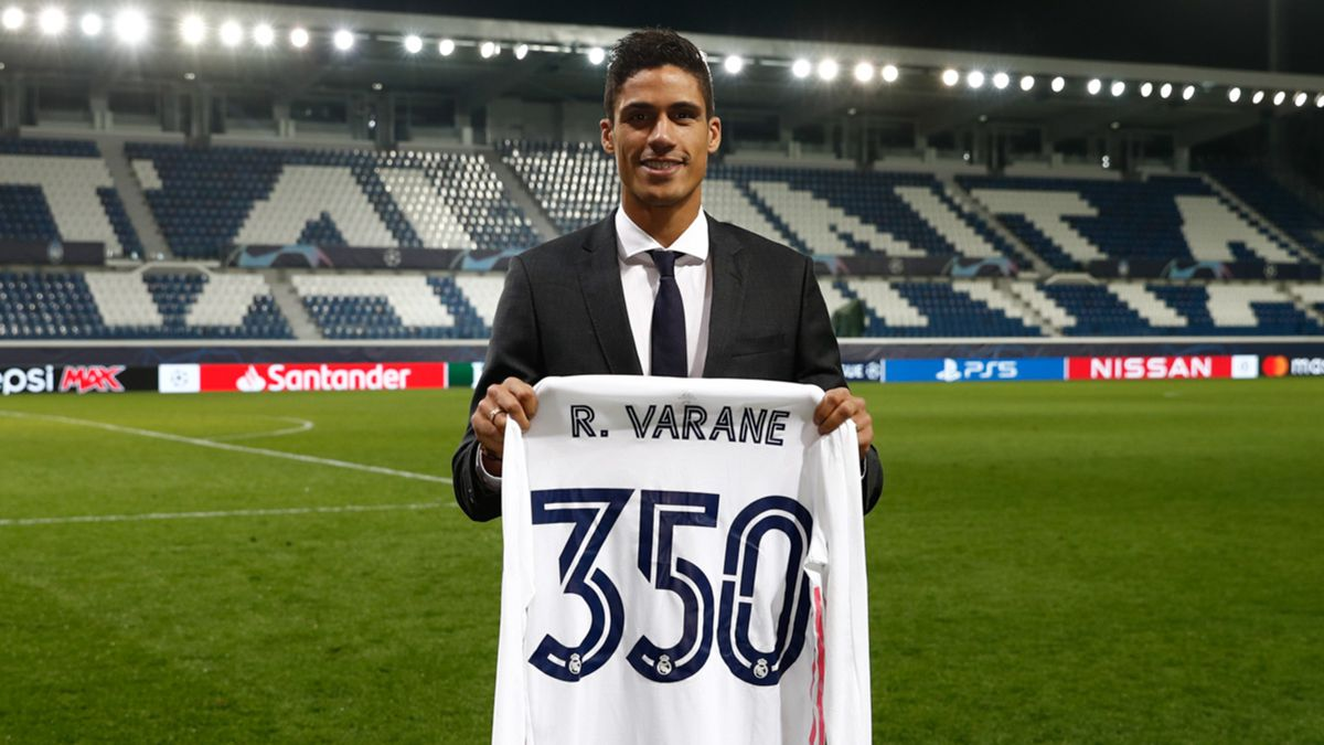 Varane, en el escaparate