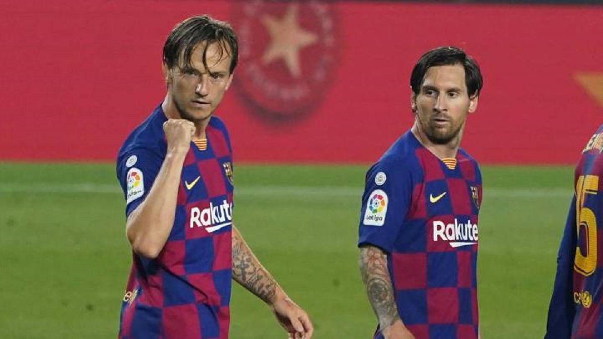 Rakitic to Messi: