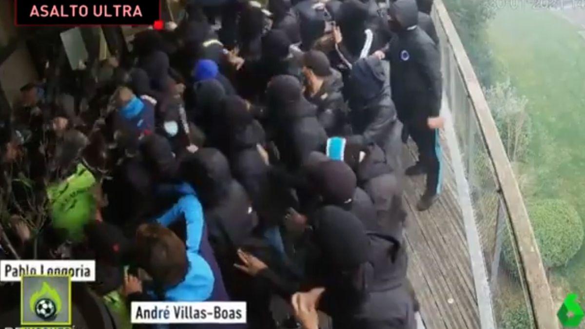 La escenas de violencia de los ultras del Marsella contra Vilas-Boas y Álvaro González