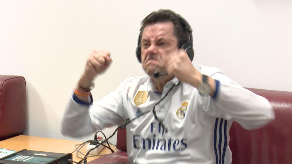 De la amargura al éxtasis: la reacción de Roncero con el gol de Benzema en el 88'