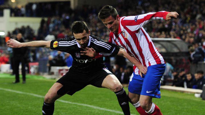 Saúl Ñíguez en el partido de su debut con el Atlético.