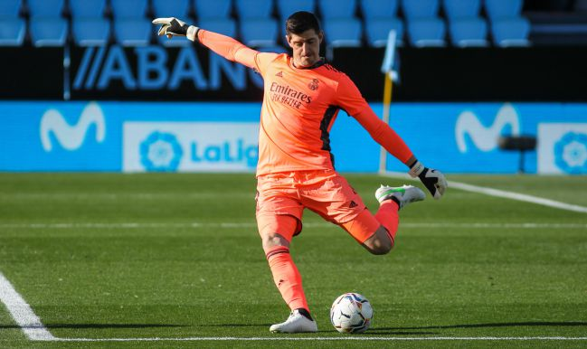 Courtois, durante el Celta-Real Madrid.