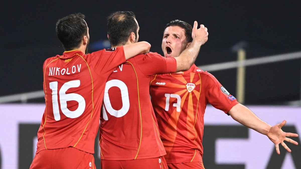 Macedonia del Norte sorprende a Alemania en las eliminatorias de la UEFA como visitante