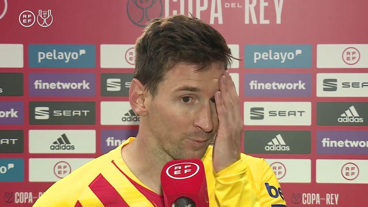 """Messi: """"Siento mucha felicidad"""""""