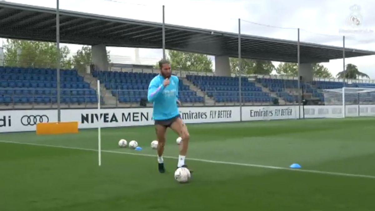 Sergio Ramos vuelve a los entrenamientos