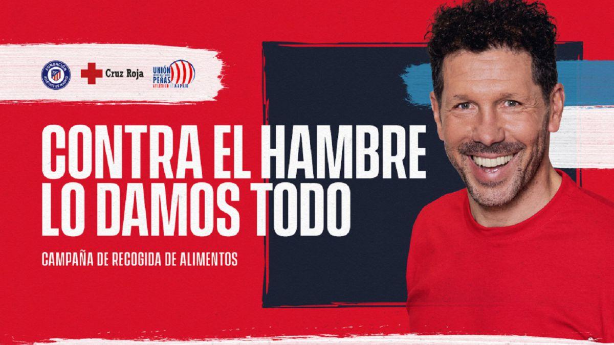 La familia Simeone y el Atlético, unidos contra el hambre