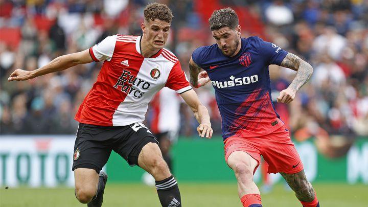 Rodrigo de Paul contra el Feyenoord.