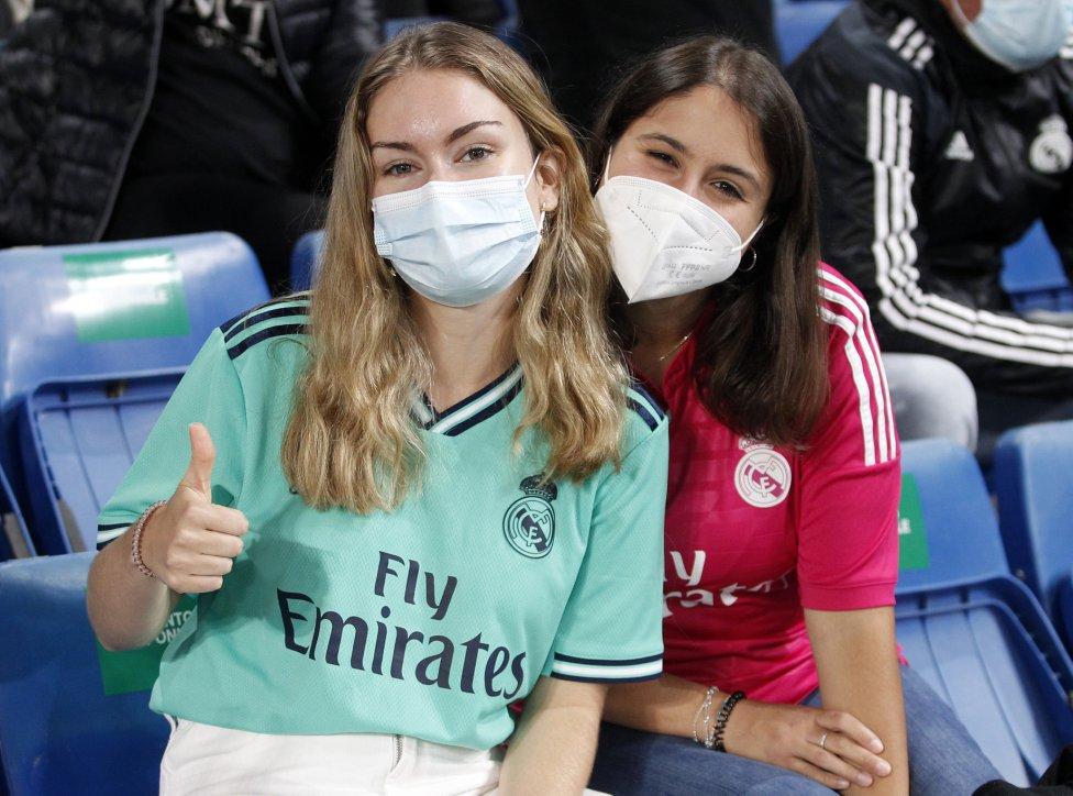 Aficionadas del Real Madrid.
