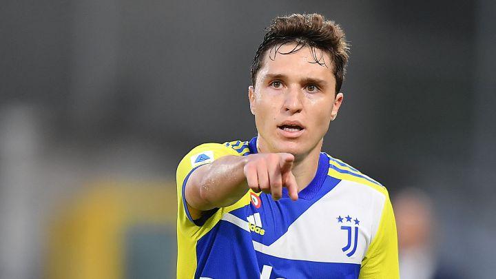 Federico Chiesa, jugador de la Juventus, durante el partido de Serie A ante el Spezia.