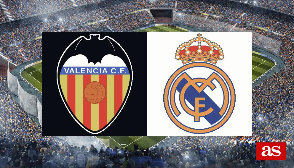 Valencia vs. Real Madrid live: LaLiga Santander 2016/2017 - AS.com