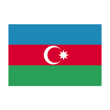 Flag for Azerbaiyán