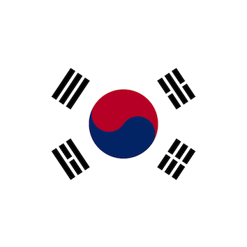 Flag for Corea del Sur