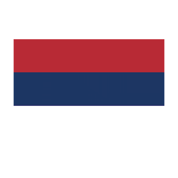 Flag for Serbia