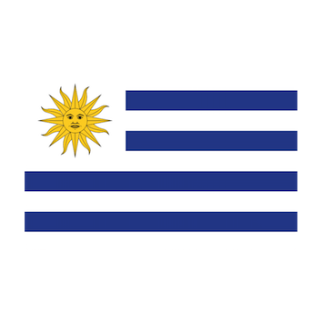 Flag for Uruguay