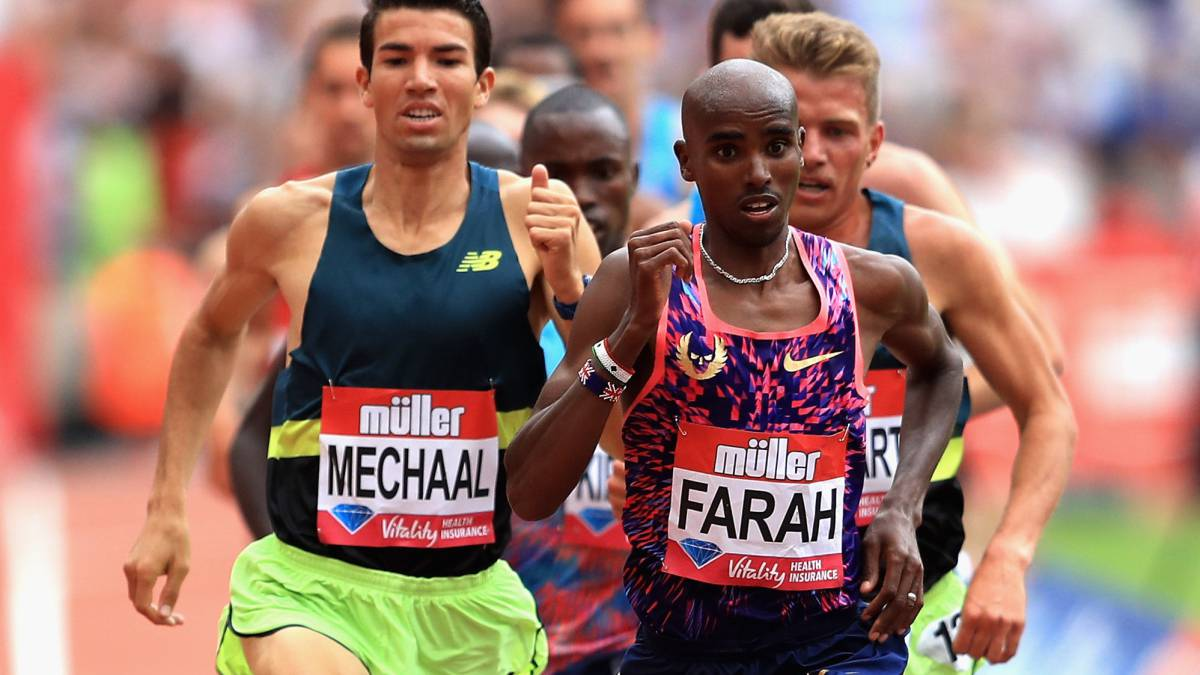 Mechaal apretó a Mo Farah en la Diamond League de Londres