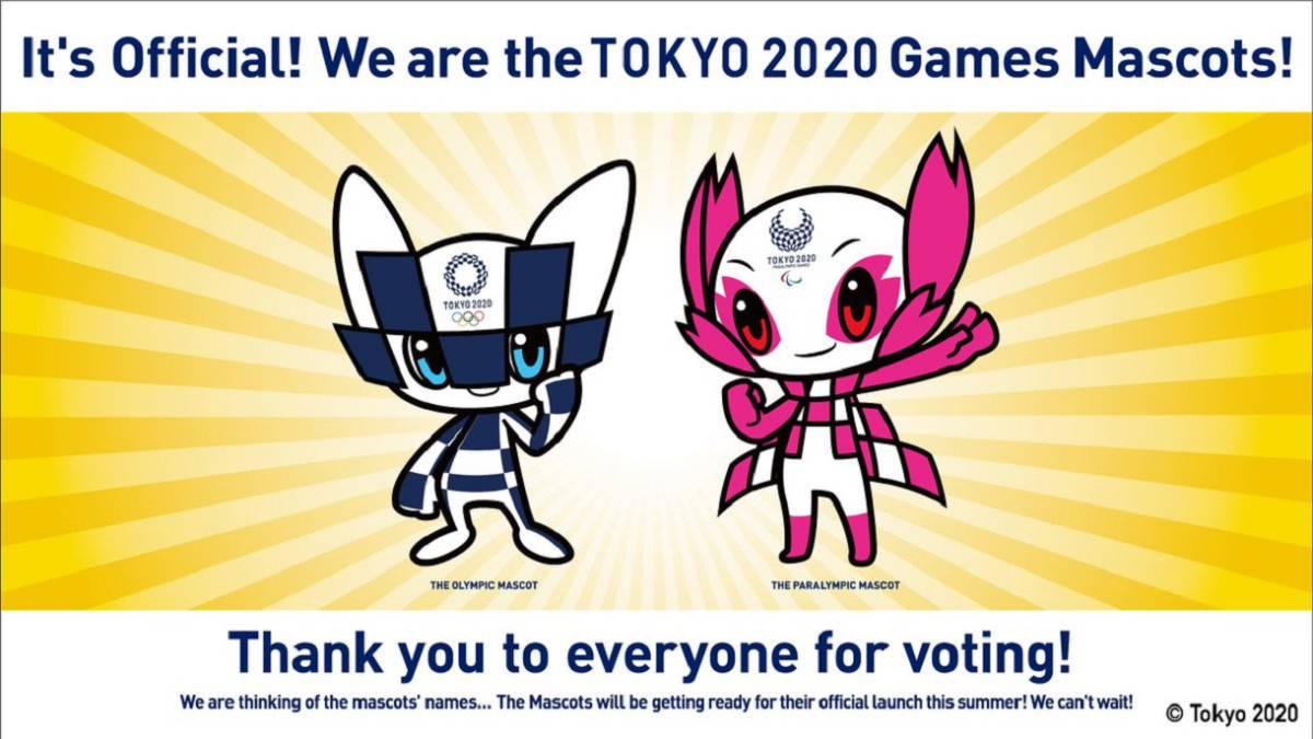 Se presentaron las dos mascotas olímpicas de Tokio 2020