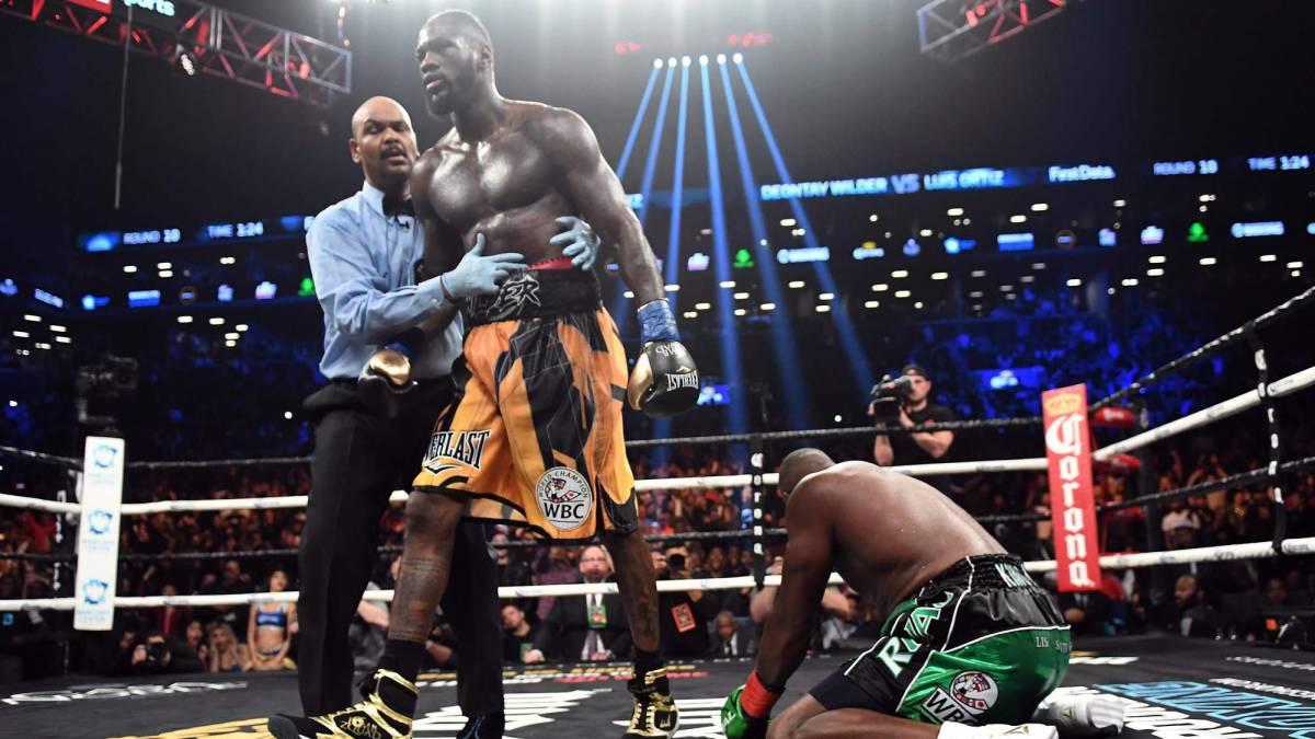 Deontay Wilder noquea a Luis Ortiz por el WBC del peso pesado en Nueva York.
