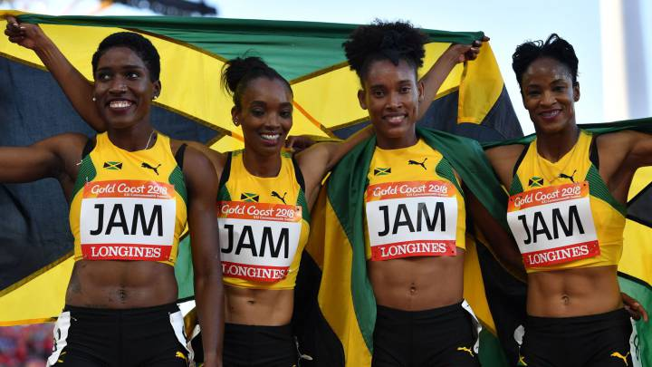 Jamaica 4x400 Commonwealth 2018