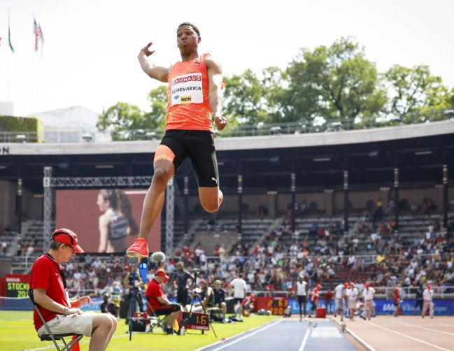 Juan Miguel Echevarria, en la Diamond League.