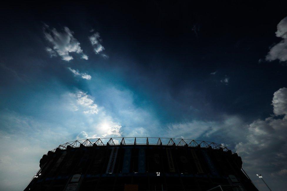 Estadio Azteca. Vista general del coliseo mexicano antes del partido entre el Club América y  Chivas, el Clásico del fútbol mexicano