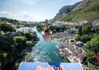 Red Bull Cliff Diving: Mostar, un escenario de película
