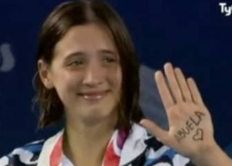 Argentine swimmer's touching tribute to late grandmother