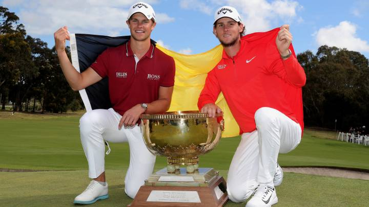 Pieters y Detry Mundial golf 2018