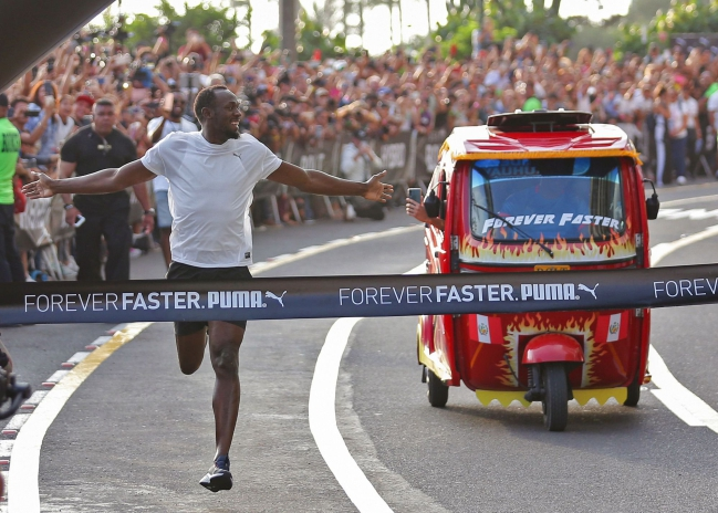 Usain Bolt superó con holgura a su 'rival'