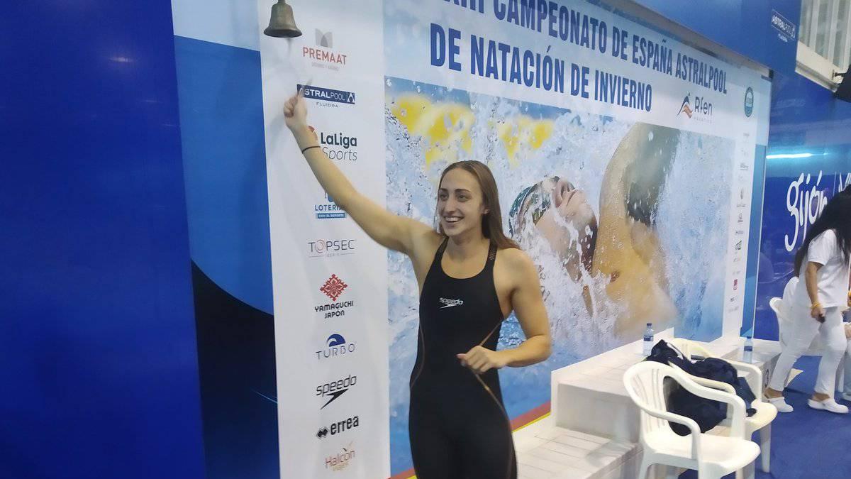 Lidón iguala el récord de 50 mariposa de Ángela San Juan - AS