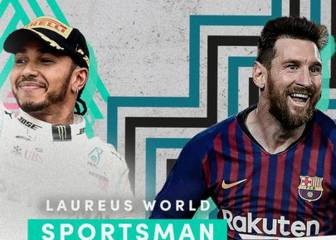 Messi and Hamilton share Laureus Sportsman of the Year award