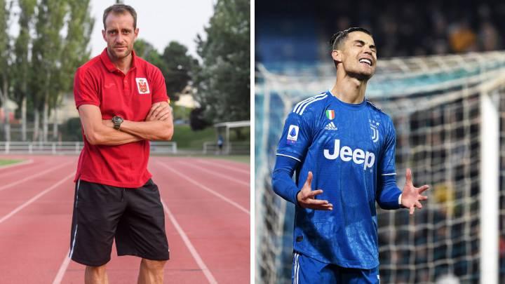 Ángel David 'El Pájaro' Rodríguez y Cristiano Ronaldo.