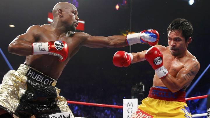 """Mayweather sentenció que si le diera una pelea de revancha a Manny Pacquiao, este tendría """"otra excusa"""" para su derrota."""