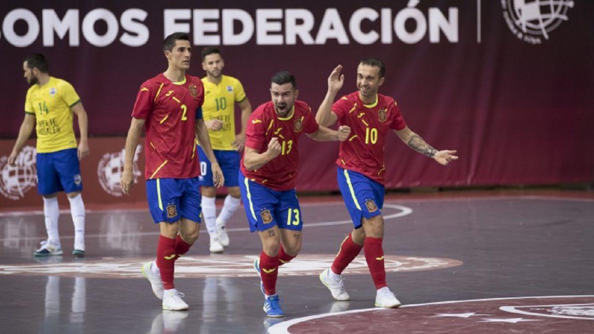 España contra Letonia el 8 de diciembre en Las Rozas