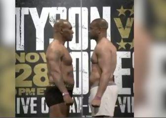 Va a ser histórico: así fue el pesaje de Mike Tyson y Roy Jones en la previa al combate