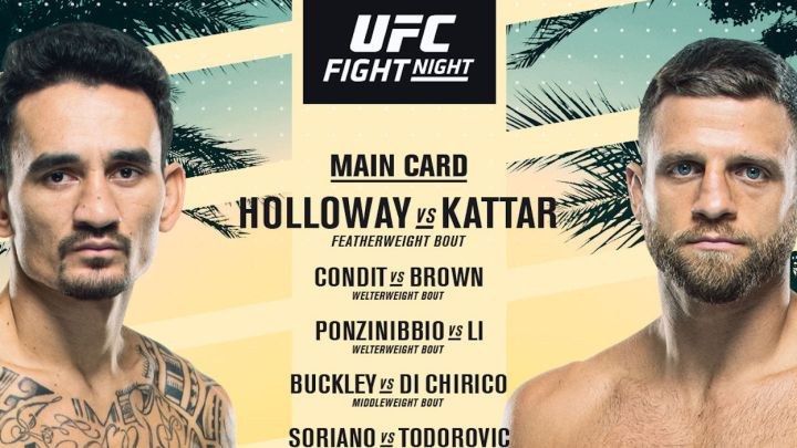 UFC Fight Island 7: TV, horario, cartelera y cómo ver Holloway - Kattar