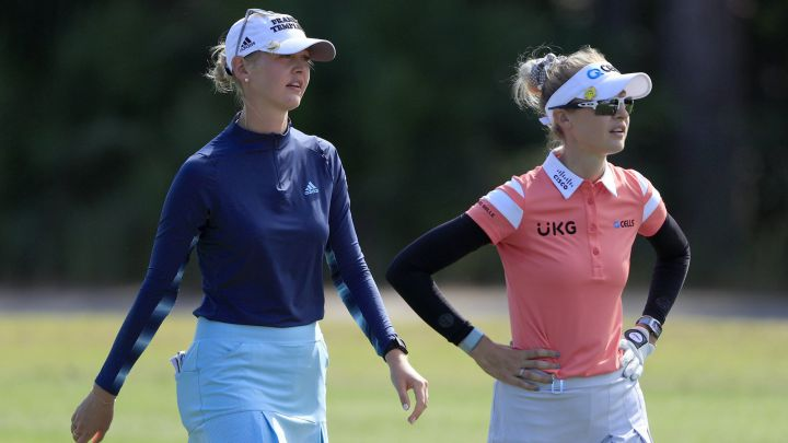 Jessica Korda y Nelly Korda, durante la última jornada del Diamond Resorts Tournament of Champions en el Tranquilo Golf Course del Four Seasons Golf and Sports Club en Lake Buena Vista, Florida.