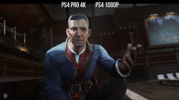 Dishonored 2: comparativa gráfica PS4 Pro 4K vs 1080p
