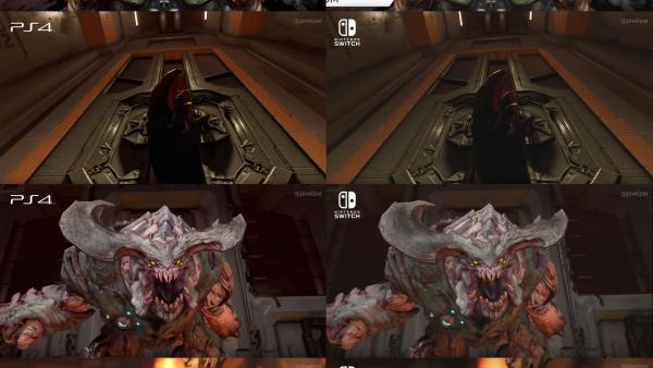 Comparativa gráfica: DOOM PS4 vs Nintendo Switch