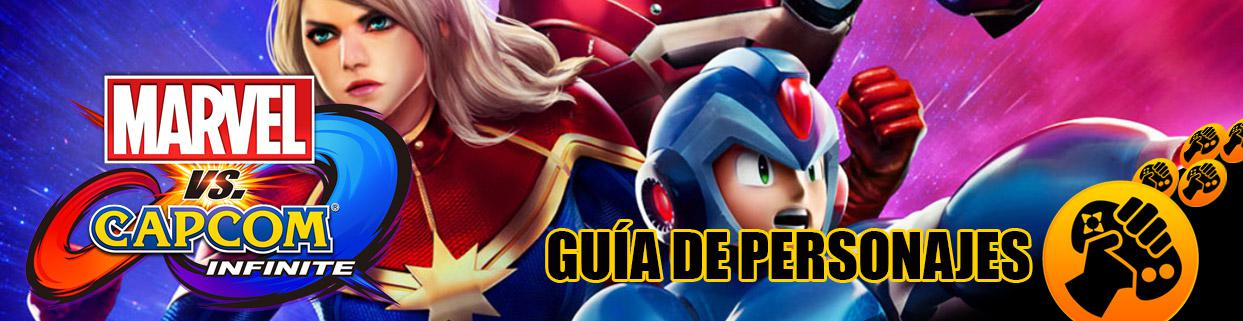Guía de Personajes de Marvel VS Capcom: Infinite