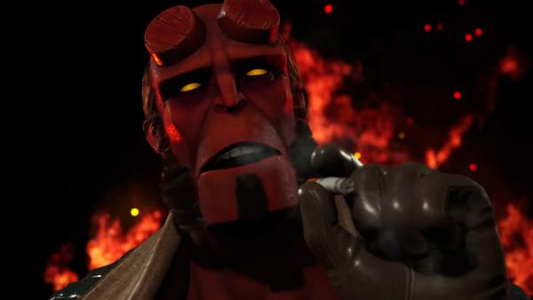 Hellboy salta al ring de Injustice 2 con un brutal gameplay